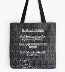 BBC Sherlock-Moriarty funny quote Tote Bag