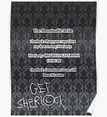 BBC Sherlock-Moriarty funny quote Poster