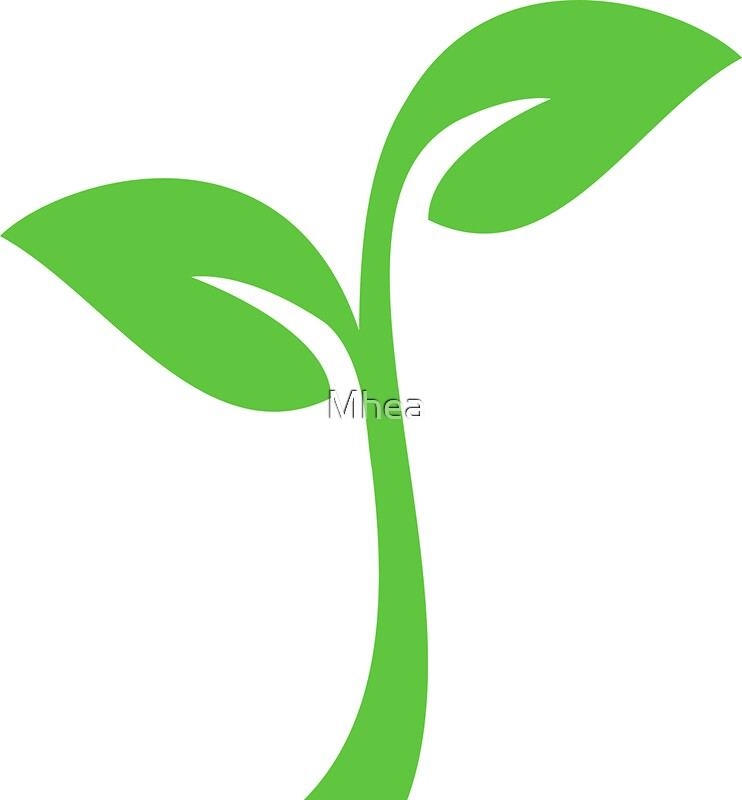 quotsimple green leaf icon logoquot stickers by mhea redbubble