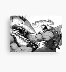 FISH FIGHT! Canvas Print