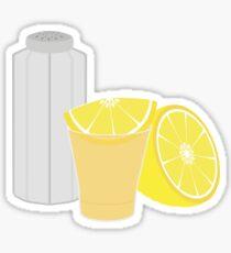 Salt, lemon and tequila Sticker