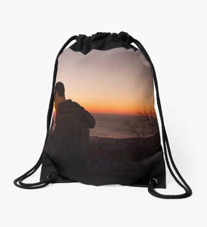 Sunset at Trieste Drawstring Bag