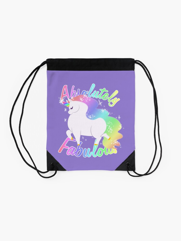 Alternate view of Absolutely Fabulous Drawstring Bag