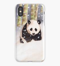 Panda In The Snow iPhone Case