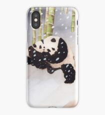 Pandas In The Snow Too iPhone Case