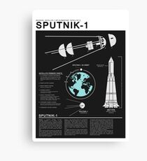 SPUTNIK-1 Infographics  Canvas Print