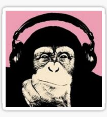 Monkey Music Sticker