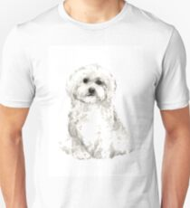 Maltese abstract dog poster T-Shirt