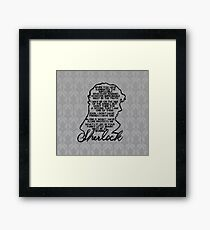 BBC Sherlock quote picture Framed Print