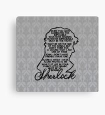 BBC Sherlock quote picture Canvas Print