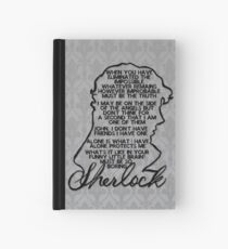 BBC Sherlock quote picture Hardcover Journal