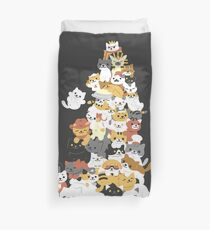 cat pile Duvet Cover