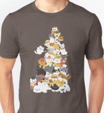 pile de chat T-shirt unisexe