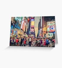 Times Square Summer Greeting Card