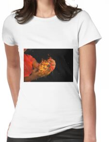 African model with a ball of fire in her hands.  Womens Fitted T-Shirt