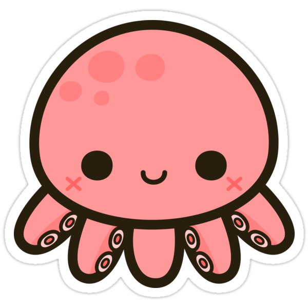 Quot Cute Octopus Quot Stickers By Peppermintpopuk Redbubble