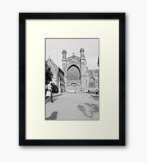 Impressive Frontage Framed Print