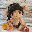 Handmade bears from Teddy Bear Orphans - Pookie Pig by Penny Bonser