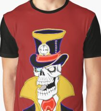 Steam Punk Vampire Skull Graphic T-Shirt
