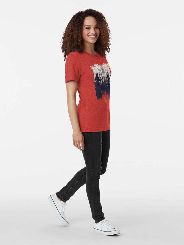 Alternate view of A Fox in the Wild... Tri-blend T-Shirt