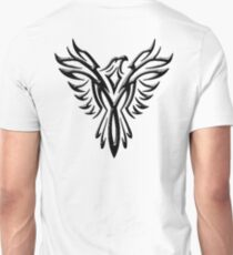 Phoenix, Phenix, Bird, Rising from the flames, Legend, Mythology, Black T-Shirt