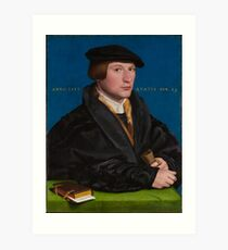 Hans Holbein the Younger , (German, ), Portrait of a Member of the Wedigh Family, Probably Hermann von Wedigh, Art Print