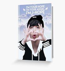Engel J-Hoffnung Grußkarte