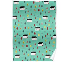 Countryside Pattern Poster