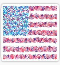 Lilly USA Flag Sticker