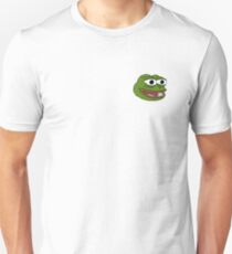 Singular Pepe the frog design. Unisex T-Shirt