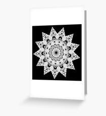 Night Snow Greeting Card