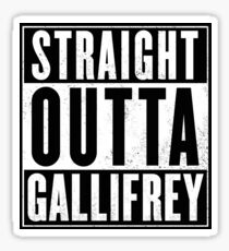 Doctor Who - Straight outta Gallifrey Sticker