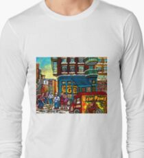 HAPPY WINTER DAY IN THE CITY RUE ST. VIATEUR MONTREAL CANADIAN ART  T-Shirt