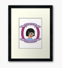 Crap Attack // Tina Belcher Framed Print