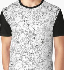 Creepies Collage Graphic T-Shirt