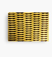 Yellow Basket Weave Design  Canvas Print