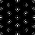 Black & White Rhombus & Squares Pattern 2 by Alina Shevchenko