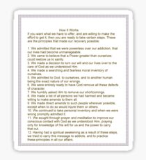 How It Works N.A. 12 Steps Sticker