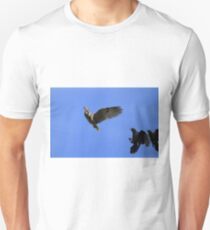 Owl Chased by Crows Unisex T-Shirt