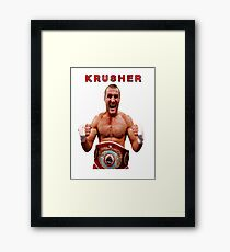 Sergey Kovalev Krusher boxing  Framed Print