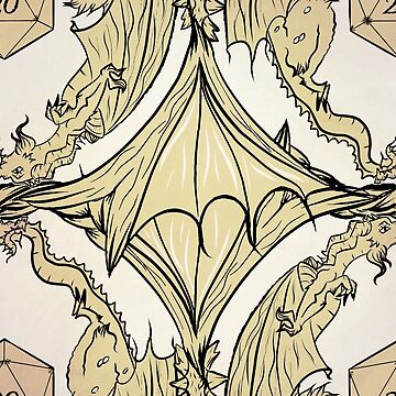d20 dragon damask by VanityGames