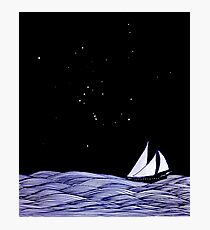 Sailing under Orion Photographic Print