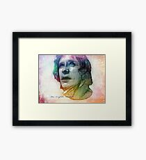 The Eighth Doctor Sketch Drawing in Rainbow Colors Framed Print