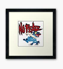 NoFearFrogadier logo Framed Print
