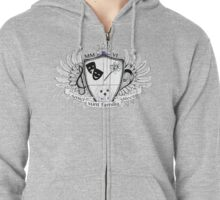 Glitter Family Crest Zipped Hoodie