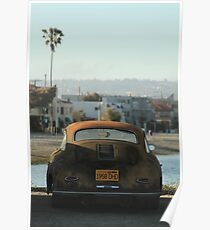 Mission Beach Car Poster