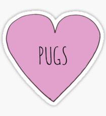 Pegatina PUG LOVE