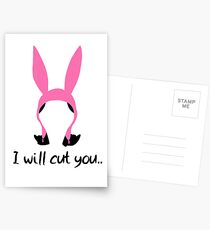 i will cut you // louise Postcards