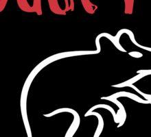 Mouse Rat black circle Sticker