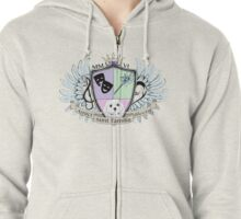 Glitter Family Crest - Color Zipped Hoodie